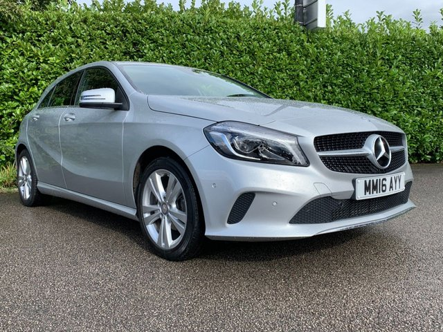 USED 2016 16 MERCEDES-BENZ A CLASS 1.5 A 180 D SPORT PREMIUM 5d AUTO 107 BHP One Owner From New, Full Main Dealer Service History, £20 Tax, Reverse Camera, Front + Rear Parking Sensors, Sat Nav, Bluetooth, Climate Control, Air Conditioning