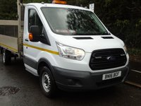 USED 2016 16 FORD TRANSIT T350 2.2TDCI 124 BHP 3500KG LWB SINGLE WHEEL DROPSIDE TRUCK WITH TAILLIFT +REVERSE CAM+1 OWNER+E/W+