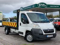 USED 2014 14 CITROEN RELAY 2.2 HDI 35 L3 DROPSIDE 129 BHP Alloy Sides, 129 BHP, Amber Highway Beacons, Finance Arranged.