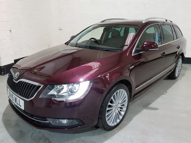 USED 2015 15 SKODA SUPERB 2.0 LAURIN AND KLEMENT TDI CR 5d 139 BHP 1 Owner/Heated Leather/ Sat-Nav/ Park Sensors/ Pan-Roof