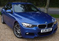 """USED 2015 15 BMW 3 SERIES 2.0 320D M SPORT 4d AUTO 181 BHP/ SAT NAV/ PARKING SENSORS/ STUNNING LOOKING & MINT CONDITION BMW3 Series2.0 320d BluePerformance M Sport (s/s) 4dr Automatic/ COMES WITH MANY EXTRAS/ PRO SAT NAV/ CRUISE CONTROL/ PARKING SENSORS/ BLUETOOTH/ LEATHER HEATED SEATS/ M SPORT PACKAGE/ COMES WITH FULL MAIN DEALER SERVICE HISTORY/ +NEW SERVICE/ 1 YEAR NEW MOT/ 2 KEYS/ ROAD TAX £125,-  /WARRANTY/ HPI CLEARED/  BOOK A TEST DRIVE TODAY! APPLY FOR A CAR FINANCE ON OUR WEBSITE PAGE """"FINANCE"""""""
