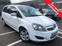 USED 2013 63 VAUXHALL ZAFIRA 1.6 EXCLUSIV 5d 113 BHP FULL MAIN DEALER  WITH SERVICE HISTORY
