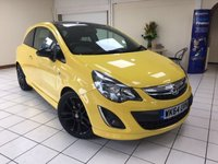 "USED 2014 64 VAUXHALL CORSA 1.2 LIMITED EDITION 3d 83 BHP EYECATCHING COLOUR COMBINATION ... YELLOW WITH BLACK ROOF AND 17"" ALLOY WHEELS"