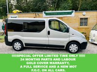 USED 2006 56 RENAULT TRAFIC 1.9 SL27DCI SWB 100 BHP Here we have a clean and tidy example of a converted day van, diamond stitched black leather rock n roll bed, kitchen units with Veltrum illuminated roof. charges leisure battery from the van with top quality inverter and 240 v sockets, nice and neatly converted, air conditioned with double din Sony  blue tooth stereo. electric windows, just had full service Recent injectors, and will come with new MOT