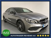 USED 2016 16 MERCEDES-BENZ CLA 2.1 CLA 220 D AMG LINE 4d AUTO 174 BHP FULL MERCEDES HISTORY - 1 OWNER - PARKING SENSORS - AIR CON - BLUETOOTH - CRUISE - PRIVACY - HALF LEATHER