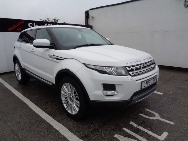 USED 2013 13 LAND ROVER RANGE ROVER EVOQUE 2.2 SD4 PRESTIGE LUX 5d AUTO 190 BHP satellite navigation bluetooth half leather dab radio electric front seats cruise control heated seats