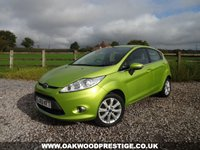 USED 2010 60 FORD FIESTA 1.4 ZETEC 16V 5d 96 BHP 2 LADY OWNERS FROM NEW WITH A FULL SERVICE HISTORY