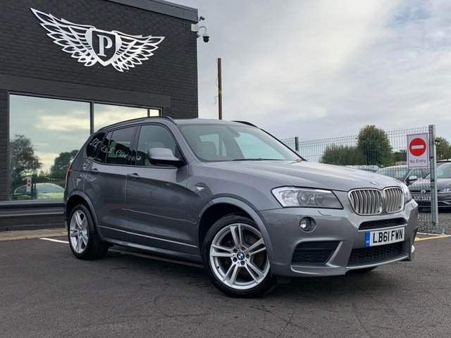 USED 2012 61 BMW X3 3.0 XDRIVE30D M SPORT 5d AUTO 255 BHP AA WARRANTY,  MOT AND SERVICE INCLUDED