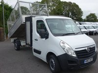 2014 VAUXHALL MOVANO 3500 L3 SINGLE CAB TIPPER WITH TOOL STORE 2.3 CDTI 125 BHP £11995.00