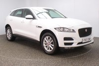 USED 2017 17 JAGUAR F-PACE 2.0 PRESTIGE AWD 5DR SAT NAV HEATED LEATHER SEATS 1 OWNER 178 BHP FULL JAGUAR SERVICE HISTORY + HEATED LEATHER SEATS + SATELLITE NAVIGATION + REVERSE CAMERA + PARKING SENSOR + BLUETOOTH + CRUISE CONTROL + CLIMATE CONTROL + MULTI FUNCTION WHEEL + DAB RADIO + XENON HEADLIGHTS + ELECTRIC SEATS + ELECTRIC WINDOWS + ELECTRIC MIRRORS + 18 INCH ALLOY WHEELS