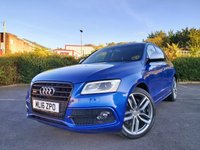 USED 2016 16 AUDI Q5 SQ5 TDI QUATTRO 3.0 BiTDI 5d 322 BHP B & O + SEPANG PEARL BLUE