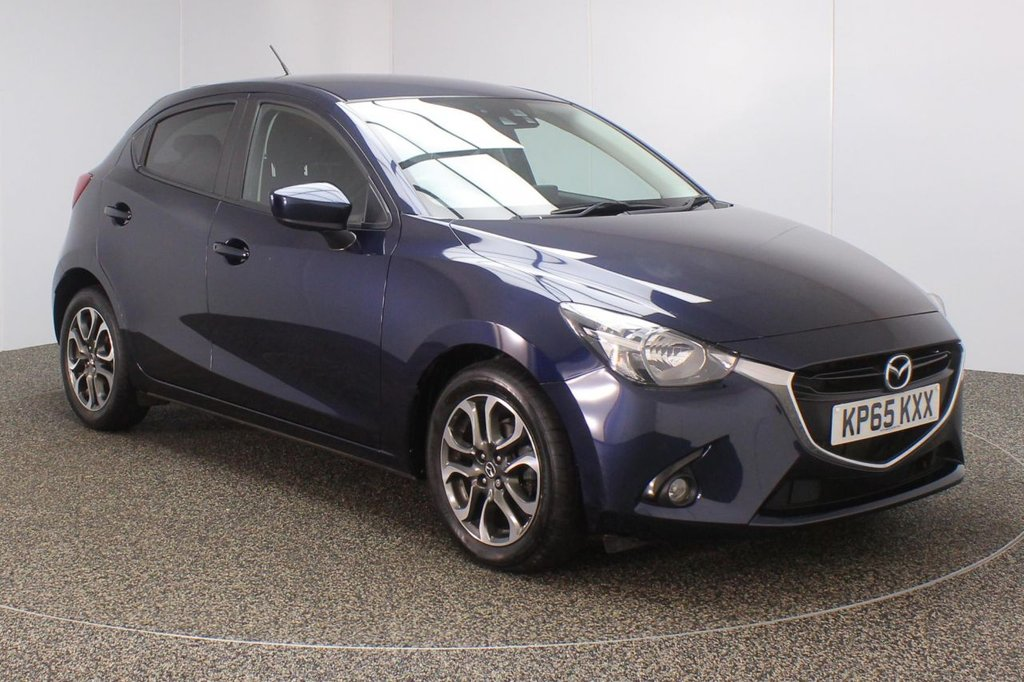 USED 2015 65 MAZDA 2 1.5 SPORT NAV 5DR 89 BHP FULL MAZDA SERVICE HISTORY + £20 12 MONTHS ROAD TAX + SATELLITE NAVIGATION + PARKING SENSOR + BLUETOOTH + CRUISE CONTROL + AIR CONDITIONING + MULTI FUNCTION WHEEL + DAB RADIO + PRIVACY GLASS + RADIO/CD/AUX/USB + ELECTRIC WINDOWS + ELECTRIC MIRRORS + 16 INCH ALLOY WHEELS