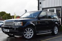 USED 2008 57 LAND ROVER RANGE ROVER SPORT 2.7 TDV6 SPORT HSE 5d AUTO 188 BHP SUPERB EXAMPLE WITH FULL AND COMPLETE SERVICE HISTORY INCLUDING 12 SERVICE STAMPS AND CAMBELT, ONE OWNER FROM NEW, WE ALSO HAVE 2 KEYS