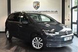 """USED 2017 17 VOLKSWAGEN TOURAN 1.6 SE TDI BLUEMOTION TECHNOLOGY DSG 5DR AUTO 114 BHP full service history Finished in a stunning urano grey styled with 16"""" alloys. Upon opening the drivers door you are presented with cloth upholstery, full service history, satellite navigation, bluetooth, dab radio, cruise control, heated seats, heated mirrors, climate control, usb/aux port, parking sensors"""