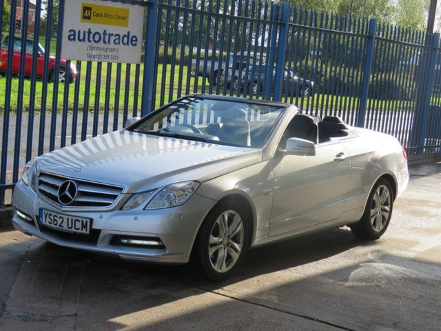 USED 2013 62 MERCEDES-BENZ E CLASS 2.1 E220 CDI BLUEEFFICIENCY SE Convertible Full leather Cruise Heated seats Finance arranged Part exchange available Open 7 days