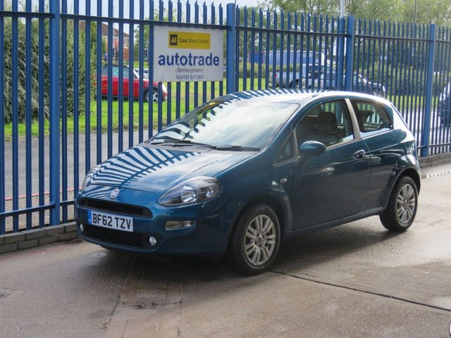 USED 2012 62 FIAT PUNTO 1.2 EASY 3d 69 BHP 1 Owner From New & Service History