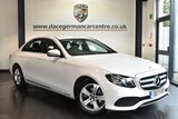 """USED 2017 17 MERCEDES-BENZ E CLASS 2.0 E 220 D SE 4DR AUTO 192 BHP full service history Finished in a stunning white styled with 17"""" alloys. Upon opening the drivers door you are presented full leather interior, full service history, satellite navigation, bluetooth, rear-view camera, heated seats, cruise control, dab radio, touchpad with rotary pushbutton, ambient lighting, climate control,  mirror package, active park assis"""