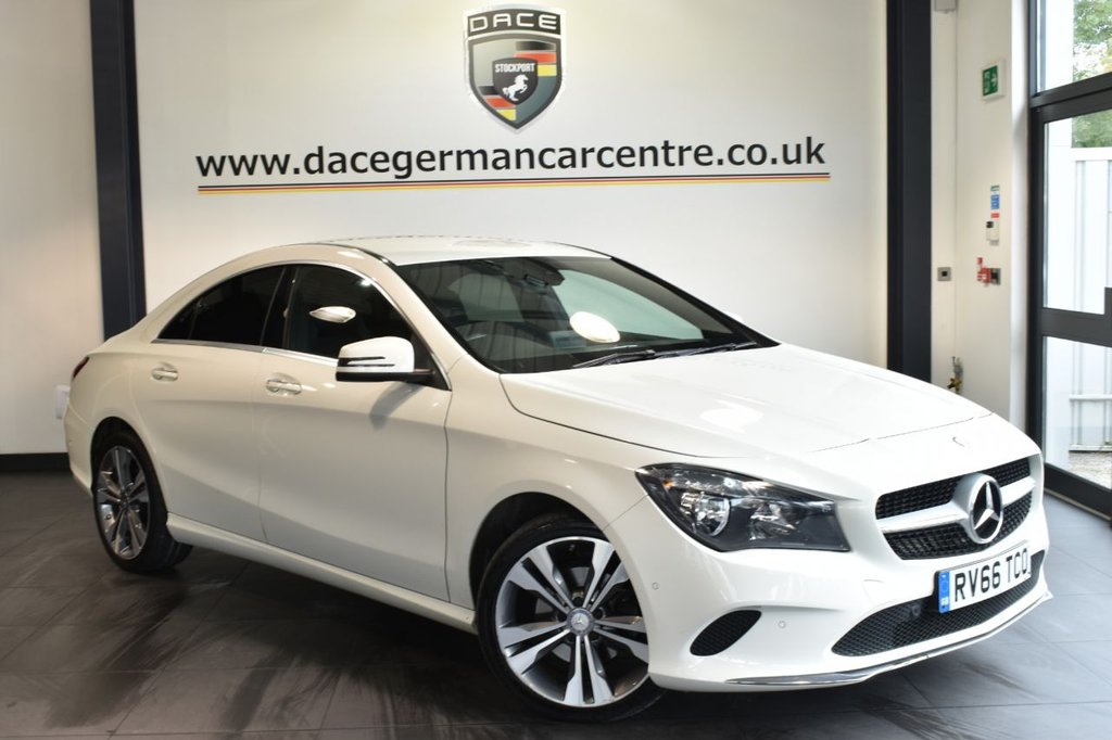 """USED 2016 66 MERCEDES-BENZ CLA 2.1 CLA 200 D SPORT 4DR AUTO 134 BHP full service history - £20 road tax Finished in a stunning calcite white styled with 18"""" alloys. Upon opening the drivers door you are presented with half leather interior, full service history, bluetooth, cruise control, active park assist, smartphone integration package, rain sensors, attention assist, auto climate control, seat comfort package"""