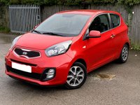 USED 2013 13 KIA PICANTO 1.0 CITY 3d 68 BHP MOT 04/20 RED WITH BLACK CLOTH TRIM. 14 INCH ALLOYS. COLOUR CODED TRIMS. PARKING SENSORS. BLUETOOTH PREP. AIR CON. R/CD PLAYER. MOT 04/20. AGE/MILEAGE RELATED SALE. P/X CLEARANCE CENTRE LS24 8EJ TEL 01937 849492 OPTION 4