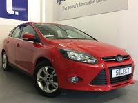 USED 2012 12 FORD FOCUS 1.6 ZETEC 5d 104 BHP Lovely Low Mileage Ford Focus 1.6 Petrol Zetec Finished In Race Red with Only 37,000 Miles, Full Spec Including  With Alloys, Air Con, Bluetooth And Digital DAB Radio