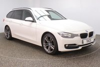 USED 2013 13 BMW 3 SERIES 2.0 320D SPORT TOURING 5DR 181 BHP FULL BMW SERVICE HISTORY + HEATED LEATHER SEATS + PARKING SENSOR + BLUETOOTH + CRUISE CONTROL + CLIMATE CONTROL + MULTI FUNCTION WHEEL + PRIVACY GLASS + RADIO/CD/AUX/USB + ELECTRIC WINDOWS + ELECTRIC MIRRORS + 18 INCH ALLOY WHEELS
