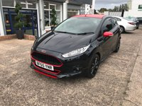 USED 2015 65 FORD FIESTA 1.0 ZETEC S BLACK EDITION 3d 139 BHP £20 ROAD TAX-BLUETOOTH-DAB RADIO-MAIN DEALER SERVICE HISTORY