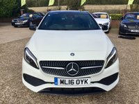 USED 2016 16 MERCEDES-BENZ A CLASS 1.5 A 180 D AMG LINE PREMIUM PLUS 5d AUTO 107 BHP PANORAMIC SUNROOF, REVERSE CAM, COLLISION PREVENTION ASSIST, NAVIAGATION, FOLDING MIRRORS, HEATED LEATHER SEATS, MEMORY SETTINGS (DRIVER + PASSENGER ADJUSTMENT) DRIVE MODE SELECT, DIAMOND GRILLE, VOICE CONTROL, MULTI-FUNCTION STEERING WHEEL, PADDLE SHIFT GEARS, MEDIA, BLUETOOTH, 18 INCH ALLOYS, ONE FORMER KEEPER, FULL MERCEDES SERVICE HISTORY, X2 KEYS