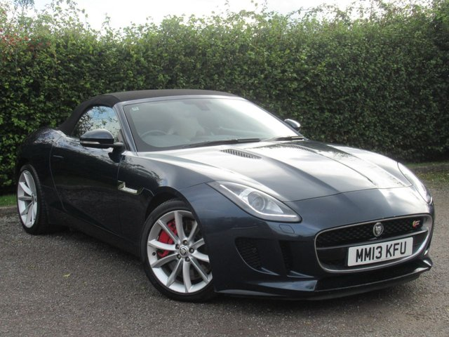 USED 2013 13 JAGUAR F-TYPE 3.0 V6 S 2d AUTOMATIC 380 BHP * CONVERTIBLE * AUTOMATIC * LEATHER SPORTS SEATS * SATELLITE NAVIGATION *