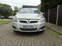 USED 2010 60 VAUXHALL ZAFIRA 1.9 EXCLUSIV CDTI 5d 120 BHP WHOLESALE DIVISION