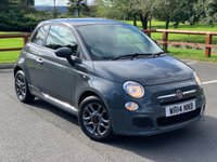 USED 2014 14 FIAT 500 1.2 S 3d 69 BHP HALF LEATHER, PHONE PREP, ALLOYS, ELECTRIC MIRRORS, FULL SERVICE HISTORY, 12 MONTHS MOT