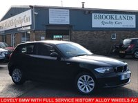 2008 BMW 1 SERIES 1.6 116I ES 3 Door Black with Grey Cloth 121 BHP £2995.00