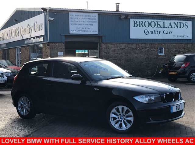USED 2008 58 BMW 1 SERIES 1.6 116I ES 3 Door Black with Grey Cloth 121 BHP Lovely BMW with FULL SERVICE HISTORY Alloy Wheels Air Con