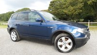 USED 2005 05 BMW X3 2.5 SPORT 5d 190 BHP CLIMATE CONTROL, ALLOY WHEELS, PARKING SENSORS, REMOTE LOCKING, AIR-CONDITONING, CD-PLAYER, ELECTRIC WINDOWS, FRONT FOG LIGHTS, ELECTRIC MIRRORS, NATION WIDE DELIVERY,