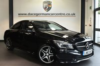 """USED 2014 63 MERCEDES-BENZ CLA 1.6 CLA180 AMG SPORT 4DR 122 BHP Finished in a stunning cosmos metallic black  styled with 18"""" alloys. Upon opening the drivers door you are presented half leather interior, comand satellite navigation, bluetooth, xenon lights, rear-view camera, memory package, active park assist, blind spot assist, cruise control, attention assist, multi-functional steering wheel, rain sensors, sport suspension, auto climate control, privacy glass, AMG sport package, night package, lumabr support"""