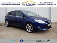 USED 2014 14 FORD FOCUS 1.6 TITANIUM X TDCI 5d 113 BHP Full Service History NAV DAB Buy Now, Pay Later Finance!