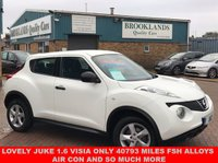 USED 2011 61 NISSAN JUKE 1.6 VISIA 5 DOOR FINISHED IN WHITE 117 BHP Lovely Juke 1.6 VISIA only 40793 Miles FSH ALLOYS AIR CON AND SO MUCH MORE