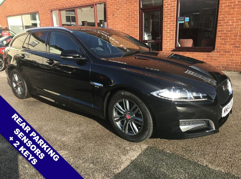 """USED 2014 64 JAGUAR XF 2.2 D R-SPORT SPORTBRAKE 5DOOR 163 BHP DAB Radio      :      Satellite Navigation      :      USB & AUX Sockets      :      Cruise Control        Bluetooth Connectivity   :   Climate Control / Air Conditioning   :   Electric Front Seats      Automatic Tailgate   :   Rear Parking Sensors   :   17"""" Alloy Wheels   :   Service History"""