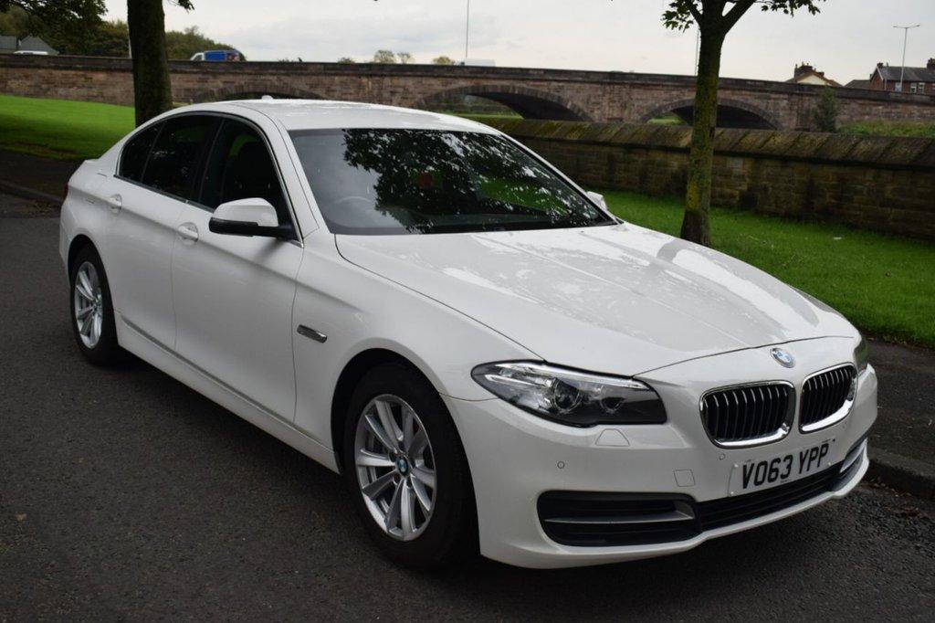 USED 2013 63 BMW 5 SERIES 2.0 520D SE 4d AUTO 181 BHP SERVICE HISTORY, SATELLITE NAVIGATION, BLUETOOTH, DIGITAL RADIO, REAR PRIVACY GLASS,