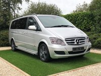 USED 2013 63 MERCEDES-BENZ VIANO 2.1 AMBIENTE CDI BLUEEFFICENCY 5d 163 BHP EXTRA LONG Legendary Reliability and Luxuriously Appointed Throughout, this Vehicle is in Superb Condition and Benefits from a Full Mercedes Service History. Finished in Bright Silver with Black Heated Leather Electric Memory Seats, Command Satellite Navigation + Bluetooth Connectivity, Front and Rear Park Distance Control + Reverse Camera, Heated Electric Powerfold Mirrors, Twin Remote Power Sliding Side Doors, Automatic Headlights with Power Wash, Leather Multi Function Steering Wheel, Cruise Control, Ai