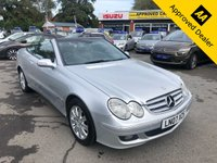2007 MERCEDES-BENZ CLK 1.8 CLK200 KOMPRESSOR ELEGANCE 2d AUTO 181 BHP IN SILVER WITH 113700 MILES,, FULL SERVICE HISTORY, BLACK CABRIOLET ROOF WITH A GREAT SPEC AND IS ULEZ COMPLIANT £3499.00