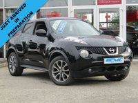 "USED 2013 C NISSAN JUKE 1.5 TEKNA DCI 5d 110 BHP STUNNING, TOP OF THE RANGE, NISSAN JUKE, 1.5 DCI TEKNA 5DOOR. Finished in PURE BLACK PEARL with contrasting EBONY HEATED LEATHER trim. The Nissan Juke first appeared in 2010 and has remained a favourite with its eye catching looks. Ideal Mid Sized family car. Features include Sat Nav, Heated Leather, Rear View Camera, DAB, 17"" Alloys and much more. Dealert serviced at 14924 miles, 26244 miles, 37389 miles and recently serviced at 62986 miles on arrival by EMC."