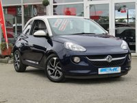 "USED 2013 63 VAUXHALL ADAM 1.2 JAM 3d 69 BHP STUNNING, SPECIAL EDITION, VAUXHALL ADAM 1.2 JAM. Finished in PUMP UP THE BLUE metalic with contrasting Trim. This nimble good looking small hatch is a great choice if you are looking for a small car. It packs a host of features which include, DAB radio, B/Tooth, Cruise Control, LED Day Lights, 16"" Boomerang Alloys and much more. Dealer serviced at 5449 miles, 11470 miles, 16047 miles, 30230 miles and on arrival at EMC at 34580 miles."