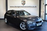 """USED 2016 66 BMW 3 SERIES 2.0 318D M SPORT TOURING 5DR AUTO 148 BHP full bmw service history - £30 road tax Finished in a stunning mineral metallic grey styled with 18"""" alloys. Upon opening the drivers door you are presented with full leather interior, full bmw service history, satellite navigation, bluetooth, rear-view camera, Cruise control, heated seats, LED Fog lights, LED headlights, Rain sensors, privacy glass, dab radio, Automatic air conditioning, M Sports package, Connected Drive Services, parking sensors"""