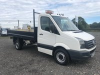 2015 VOLKSWAGEN CRAFTER CR35 TDI 109 SINGLE CAB STEEL BODIED TIPPER £9995.00