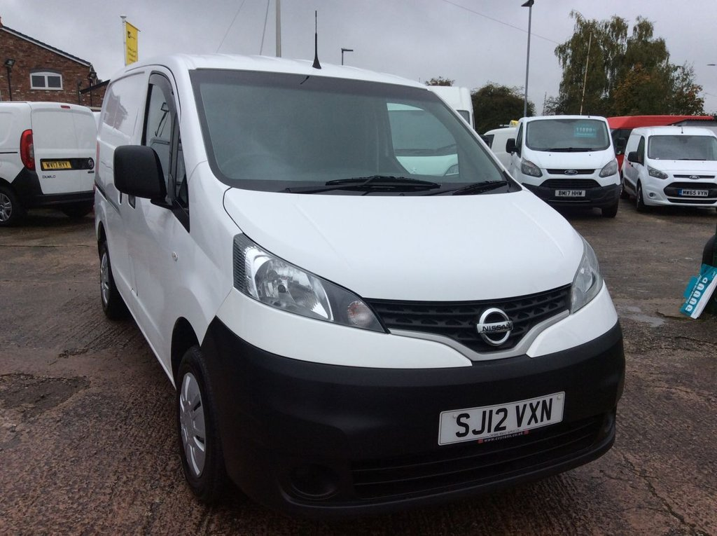 USED 2012 12 NISSAN NV200 1.5 DCI SE 1d 110 BHP MOT *NO VAT* FREE 6 MONTHS AA WARRANTY INCLUDING RECOVERY AND ASSIST MOT EURO 5 SPARE KEY TWIN SIDE LOADING DOORS 6 SPEED ELECTRIC WINDOWS AND MIRRORS BLUETOOTH *NO VAT*