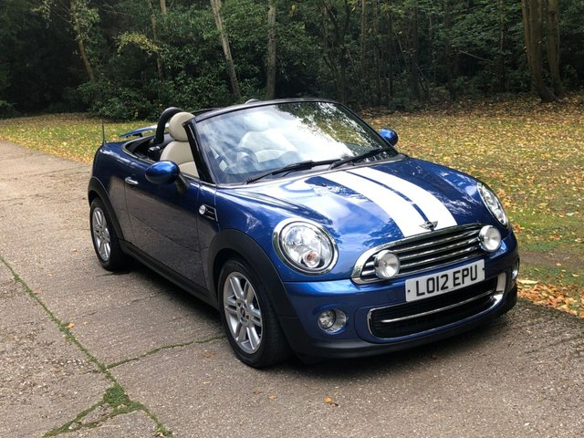 USED 2012 12 MINI ROADSTER 1.6 COOPER 2d AUTO 120 BHP 1 OWNER AUTOMATIC LOW MILEAGE, MANY EXTRAS.FINANCE ME TODAY-UK DELIVERY POSSIBLE