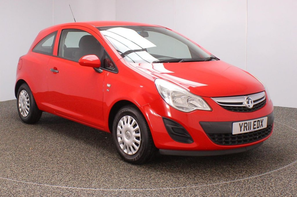 USED 2011 11 VAUXHALL CORSA 1.0 S ECOFLEX 3DR 64 BHP FULL SERVICE HISTORY + £30 12 MONTHS ROAD TAX + AIR CONDITIONING + RADIO/CD + ELECTRIC WINDOWS + ELECTRIC MIRRORS