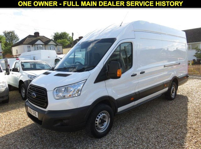 2016 16 FORD TRANSIT 2.2 350 L4 H3 (JUMBO) RWD PANEL VAN 125 BHP WITH ONLY 16,131 MILES