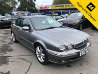 USED 2006 56 JAGUAR X-TYPE 2.5 V6 SE 4d AUTO 195 BHP IN DARK METALLIC GREY WITH BLACK LEATHER AND SAT NAV WITH FULL BLACK LEATHER WITH A FULL SERVICE HISTORY AND ONLY 44000 MILES 44000 MILES IN STUNNING CONDITION. Approved cars are pleased to offer this 2006 Jaguar X-Typre 2.5 v6 Automatic in stunning condition with dark grey metallic grey with full black electric seats. It has a full service history with only 44000 miles. It is in immaculate condition and has been really well looked after. The car comes equipped with sat nav, phone connection for calls, FM/AM radio, 6 CD changer in the boot. electric seats and much much more. For more information or to book a test drive please call our sales team