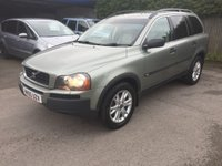 USED 2005 05 VOLVO XC90 2.4 D5 SE AWD 5d 161 BHP 7 SEATER MOT 08/20 7 SEATER. GREEN MET WITH PART LEATHER TRIM. ELECTRIC MEMORY HEATED SEATS. CRUISE CONTROL. 18 INCH ALLOYS. COLOUR CODED TRIMS. PRIVACY GLASS. PARKING SENORS. CLIMATE CONTROL. R/CD PLAYER. TOWBAR. MOT 08/20. AGE/MILEAGE RELATED SALE. P/X CLEARANCE CENTRE LS24 8EJ. TEL 01937 849492 OPTION 4